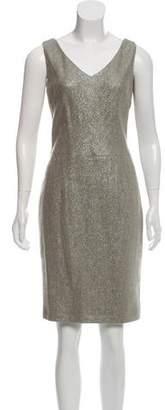 Ralph Lauren Wool-Blend Herringbone Dress