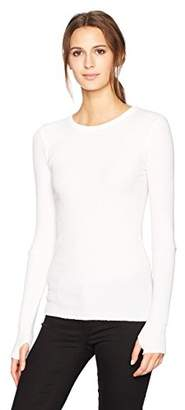 Enza Costa Women's Cashmere Thermal Cuffed Crew Top