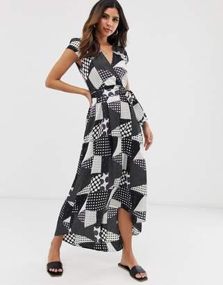 AX Paris spot print wrap dress