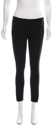 3.1 Phillip Lim Silk-Trimmed Skinny Pant