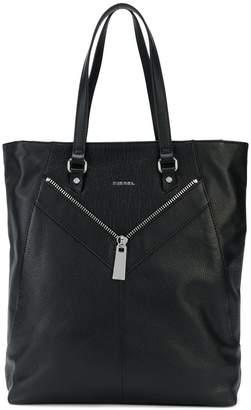 Diesel zip-detailed tote bag