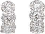 INBAR Diamond Huggie Earrings