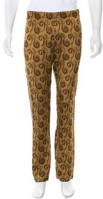 Dries Van Noten Abstract Jacquard Slim-Fit Pants