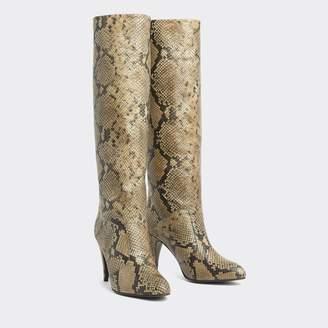 Tommy Hilfiger Zendaya Snake Print High Stiletto Boots