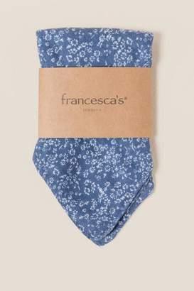 francesca's Astoria Floral Square Scarf in Blue - Blue