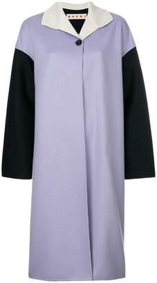 Marni colour blocked coat