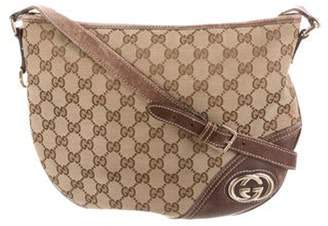 Gucci GG Canvas Britt Crossbody Bag Brown GG Canvas Britt Crossbody Bag