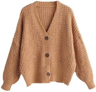 Goodnight Macaroon 'Fabienne' Waffle Knit Button Front Cardigan (3 Colors)
