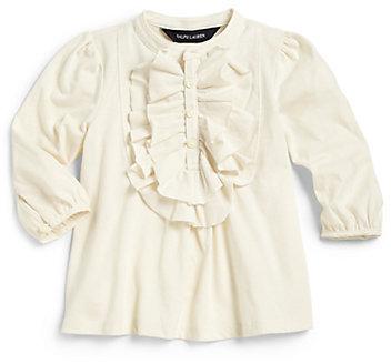 Ralph Lauren Infant's Ruffled Henley Top