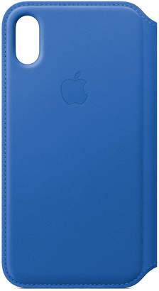 Apple iPhone X Black Leather Folio Case