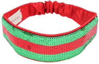 Gucci Sequined Silk Satin Headband