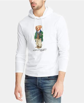 Polo Ralph Lauren Men's Big & Tall Polo Bear Hooded Long-Sleeve T-Shirt
