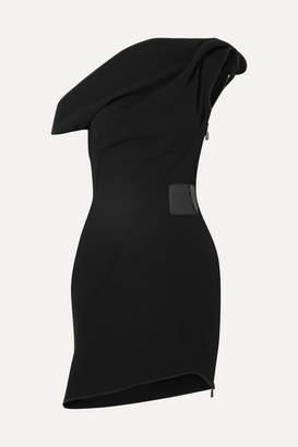 Maticevski Potion One-shoulder Ruffled Cady Mini Dress - Black