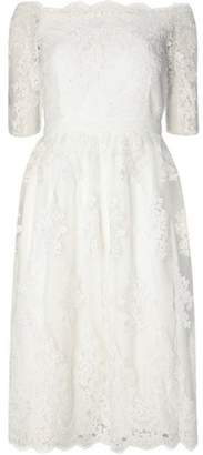 Dorothy Perkins Womens **Ivory 'Bella' Bardot Wedding Dress