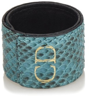 Christian Dior  Dior Embossed Leather Cuff
