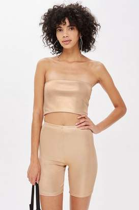 Topshop MeTallic Bandeau Top