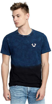 True Religion MENS INDIGO TWO TONE OMBRE TEE