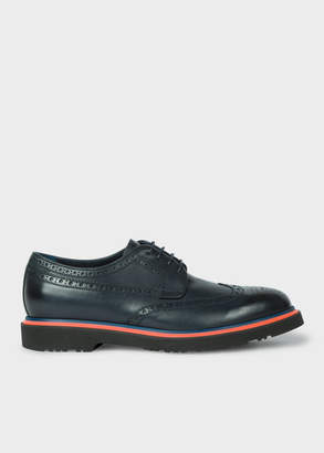 Paul Smith Men's Dark Navy Leather 'Crispin' Brogues