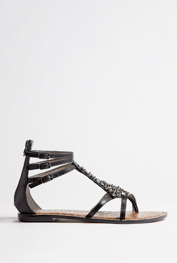 Sam Edelman Black Georgina Crystal And Studded Embellished Sandal