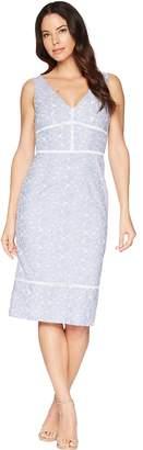 Maggy London Pincord Embroidery Novelty Sheath Dress Women's Dress