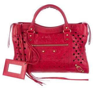 Balenciaga Motocross City Polka Dots Bag