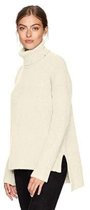 BCBGMAXAZRIA Women's Steffe Knit High Low Turtleneck