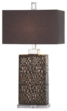 "Latitude Run Dunstable Etched 30"" Table Lamp Latitude Run"