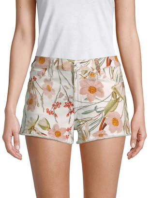 7 For All Mankind Seven 7 Floral Cut-Off Shorts