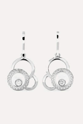 Chopard Happy Dreams 18-karat White Gold Diamond Earrings - one size