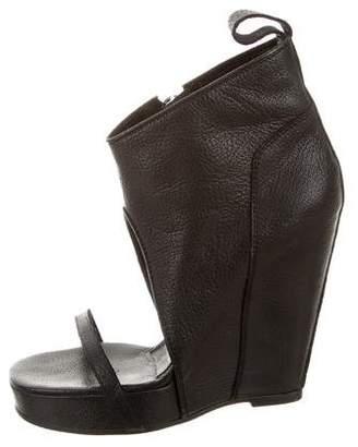 Camilla Skovgaard Peep-Toe Wedge Booties
