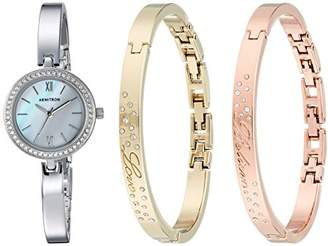 Swarovski Armitron Women's 75/5582MPTCST Crystal Accented Silver-Tone Watch and Bangle Set