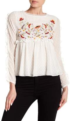 Haute Rogue Embroidered Clip Dot Top