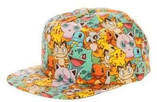 Pokemon Characters All-Over Print Flatbill Snapback Cap