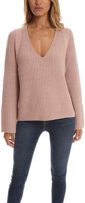 Helmut Lang Cashmere Wool V Neck Sweater