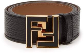 Fendi FF logo-buckle leather belt