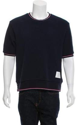 Thom Browne Pique Short-Sleeve Sweater w/ Tags