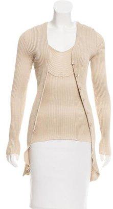 Jean Paul Gaultier Scoop Neck Knit Cardigan Set $145 thestylecure.com
