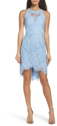 Women's Adelyn Rae Lace High/low Sheath Dress $98 thestylecure.com