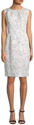 Oscar de la Renta Women's Floral Print Sheath Dress