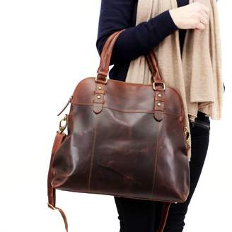 The Leather Store Ashbury Leather Shopper Tote