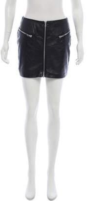 The Kooples Leather Mini Skirt w/ Tags