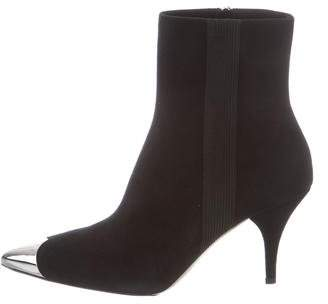 Calvin Klein Suede Pointed-Toe Booties