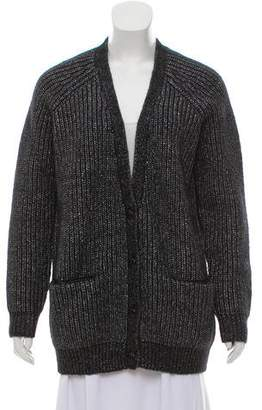 Barneys New York Barney's New York Ribbed-Knit Cardigan Sweater