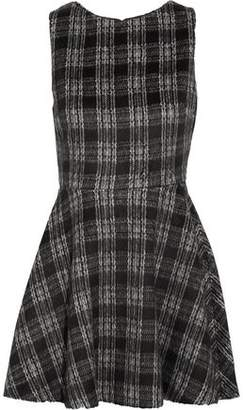 Alice+olivia Woman Monah Checked Felt Mini Dress Black Size 12 Alice & Olivia Pictures For Sale ewA0NiW4RQ