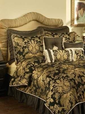 Austin Horn Classics Lismore Black 4-Piece Comforter Set