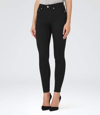 Reiss Helvin Black High-Rise Skinny Jeans