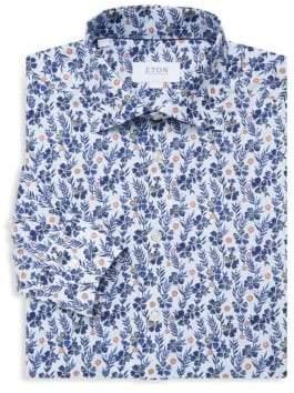 Eton Slim Floral Print Shirt