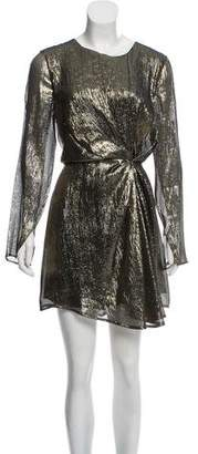 LoveShackFancy Silk Metallic Dress