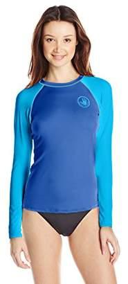 Body Glove Women's Smoothies Sleek Solid Long Sleeve Rashguard with UPF 50+