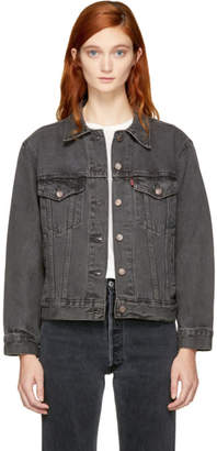 Levi's Levis Grey Denim Ex-Boyfriend Trucker Jacket